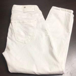 """Silver jeans """"suki"""" super stretch high Capri 29"""